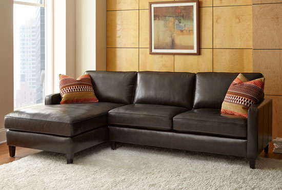 Andersen brown for Andersen leather chaise sectional