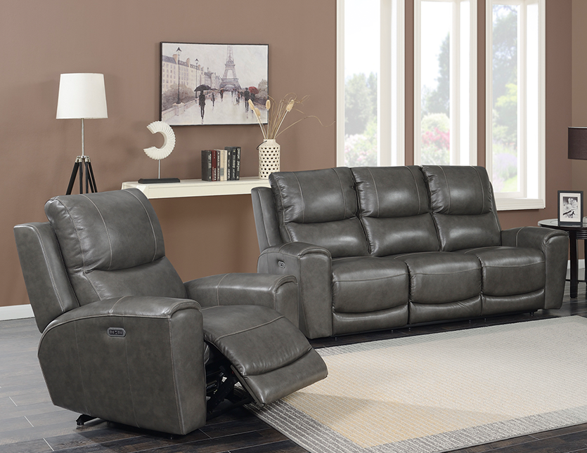 Stoneleigh 3 piece Leather Power Reclining Set with Power